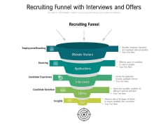 Recruiting Funnel With Interviews And Offers Ppt PowerPoint Presentation File Ideas PDF