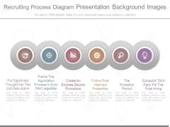 Recruiting Process Diagram Presentation Background Images