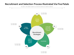 Recruitment And Selection Process Illustrated Via Five Petals Ppt PowerPoint Presentation Icon Background PDF