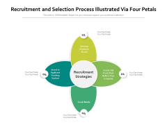 Recruitment And Selection Process Illustrated Via Four Petals Ppt PowerPoint Presentation Outline Layout PDF