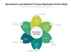 Recruitment And Selection Process Illustrated Via Six Petals Ppt PowerPoint Presentation Influencers PDF