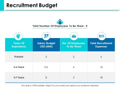 Recruitment Budget Ppt PowerPoint Presentation File Graphics