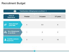 Recruitment Budget Ppt PowerPoint Presentation Infographics Design Templates