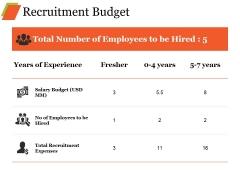 Recruitment Budget Ppt PowerPoint Presentation Styles Portfolio