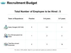 Recruitment Budget Strategy Ppt PowerPoint Presentation File Tips