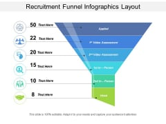 Recruitment Funnel Infographics Layout Ppt PowerPoint Presentation Summary Background Image PDF