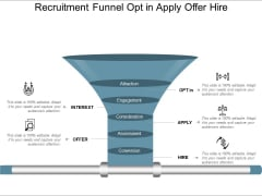 Recruitment Funnel Opt In Apply Offer Hire Ppt PowerPoint Presentation Styles Maker