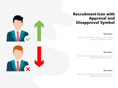 Recruitment Icon With Approval And Disapproval Symbol Ppt PowerPoint Presentation Gallery Clipart PDF