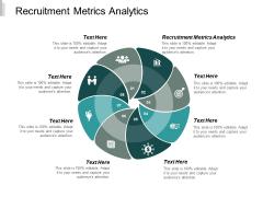 Recruitment Metrics Analytics Ppt PowerPoint Presentation Gallery Backgrounds Cpb