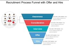 Recruitment Process Funnel With Offer And Hire Ppt PowerPoint Presentation Slides Information PDF