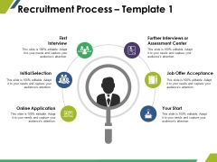 Recruitment Process Template 1 Ppt PowerPoint Presentation Gallery Professional