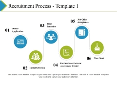 Recruitment Process Template 1 Ppt PowerPoint Presentation Outline Deck