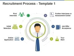 Recruitment Process Template 1 Ppt PowerPoint Presentation Outline Rules
