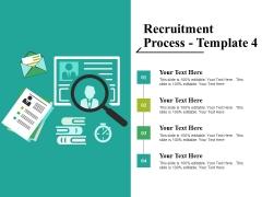Recruitment Process Template 4 Ppt PowerPoint Presentation Ideas Grid