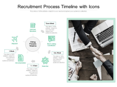 Recruitment Process Timeline With Icons Ppt PowerPoint Presentation Professional Example File PDF