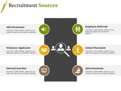 Recruitment Sources Ppt PowerPoint Presentation Inspiration Gallery