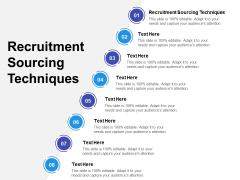 Recruitment Sourcing Techniques Ppt PowerPoint Presentation Pictures Show Cpb Pdf