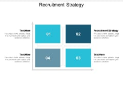 Recruitment Strategy Ppt PowerPoint Presentation File Grid Cpb