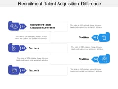 Recruitment Talent Acquisition Difference Ppt PowerPoint Presentation Icon Introduction Cpb