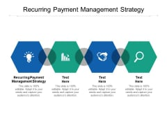 Recurring Payment Management Strategy Ppt PowerPoint Presentation Portfolio Demonstration Cpb