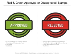 Red And Green Approved Or Disapproved Stamps Ppt PowerPoint Presentation Slides Deck