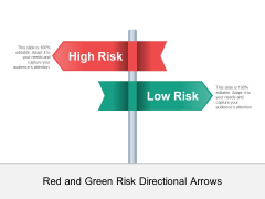 Red And Green Risk Directional Arrows Ppt PowerPoint Presentation Slides Deck