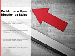 Red Arrow In Upward Direction On Stairs Ppt PowerPoint Presentation Gallery Layout