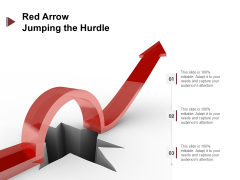Red Arrow Jumping The Hurdle Ppt PowerPoint Presentation Infographic Template Layout