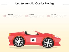 Red Automatic Car For Racing Ppt PowerPoint Presentation Gallery Professional PDF