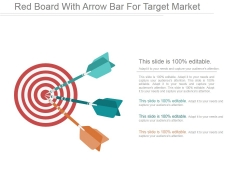 Red Board With Arrow Bar For Target Market Ppt PowerPoint Presentation Clipart