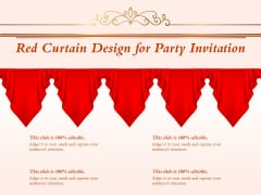 Red Curtain Design For Party Invitation Ppt PowerPoint Presentation Model Slides