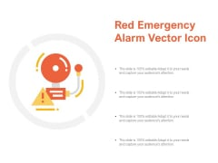 Red Emergency Alarm Vector Icon Ppt Powerpoint Presentation File Guidelines