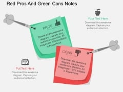 Red Pros And Green Cons Notes Powerpoint Template