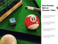 Red Snooker Ball On Snooker Table Ppt PowerPoint Presentation Visual Aids Example File Cpb