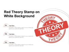 Red Theory Stamp On White Background Ppt PowerPoint Presentation Professional Influencers PDF
