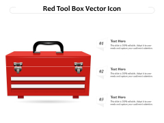 Red Tool Box Vector Icon Ppt Ideas Introduction PDF