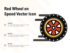 Red Wheel On Speed Vector Icon Ppt PowerPoint Presentation Icon Background Images