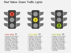 Red Yellow Green Traffic Lights Powerpoint Templates