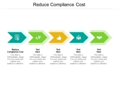 Reduce Compliance Cost Ppt PowerPoint Presentation Ideas Example File Cpb Pdf