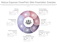 Reduce Expenses Powerpoint Slide Presentation Examples