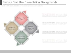 Reduce Fuel Use Presentation Backgrounds