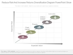 Reduce Risk And Increase Returns Diversification Diagram Powerpoint Show