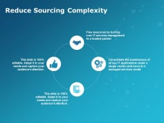 Reduce Sourcing Complexity Ppt PowerPoint Presentation File Graphics Template