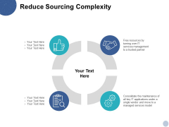 Reduce Sourcing Complexity Ppt PowerPoint Presentation Ideas Rules
