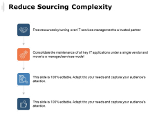 Reduce Sourcing Complexity Ppt PowerPoint Presentation Ideas Templates