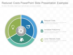 Reduced Costs Powerpoint Slide Presentation Examples