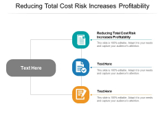 Reducing Total Cost Risk Increases Profitability Ppt PowerPoint Presentation Gallery Slideshow Cpb