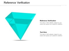 Reference Verification Ppt PowerPoint Presentation Styles Example  Cpb