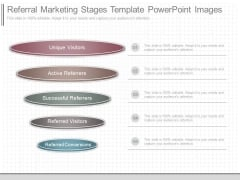 Referral Marketing Stages Template Powerpoint Images