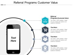 Referral Programs Customer Value Ppt PowerPoint Presentation Ideas Pictures Cpb